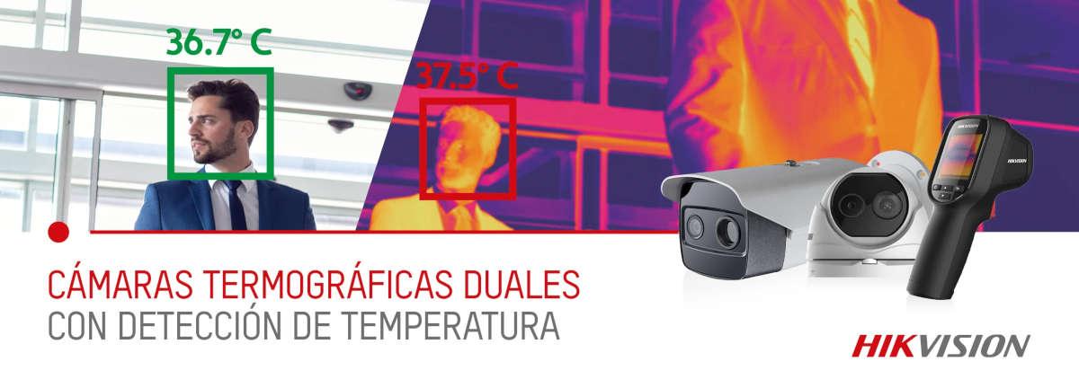 Cámaras termográifcas duales con detección de temperatura